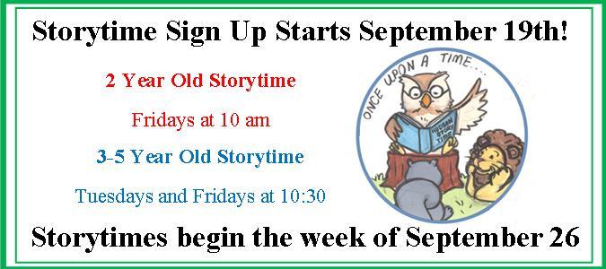 Storytime Signup Slider