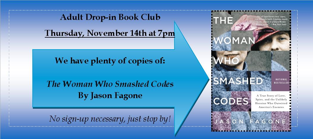 Drop in Book Club November 2019