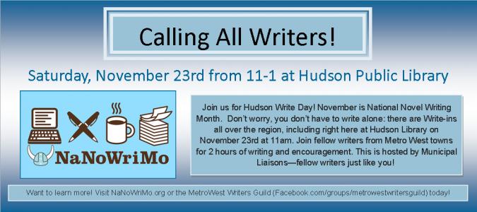 Hudson Write Day