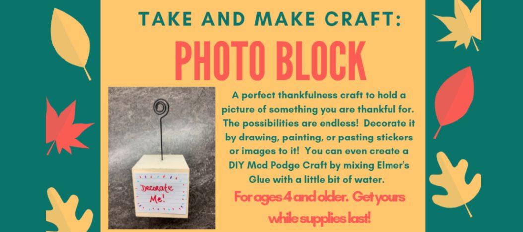 Take and Make Craft Photo Block