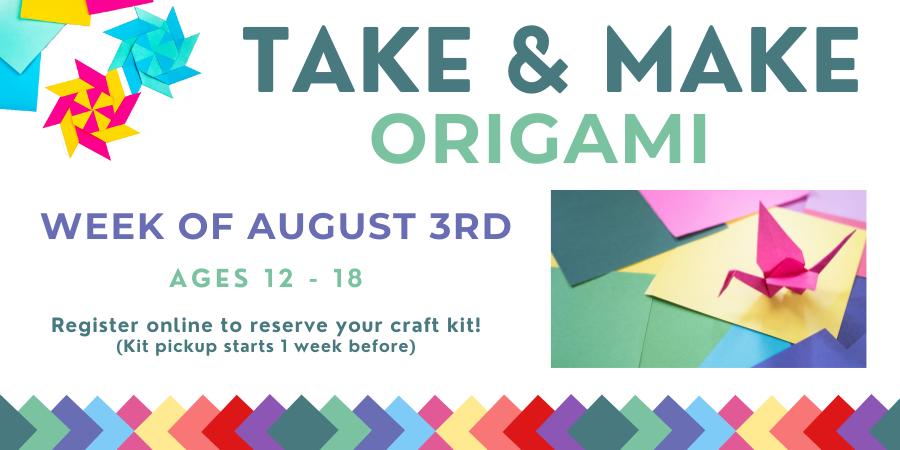 Teen origami craft
