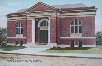 Postcard of Hudson Library