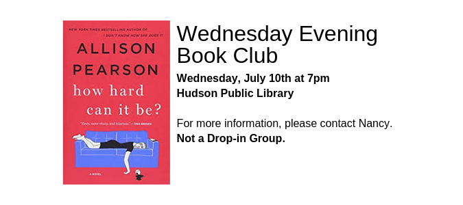 Wed evening book club July