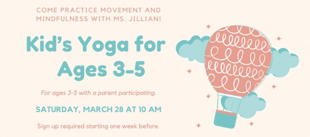 kids yoga ages 3-5