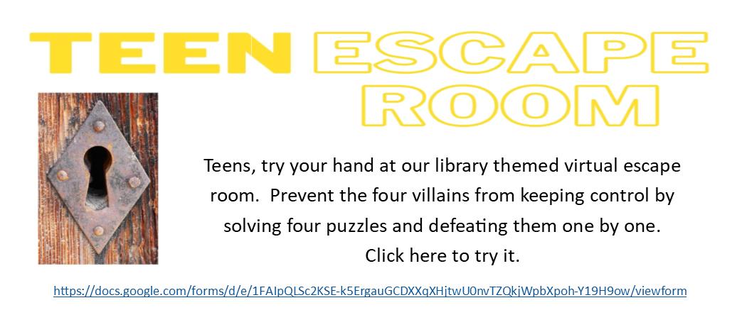 Escape room slide