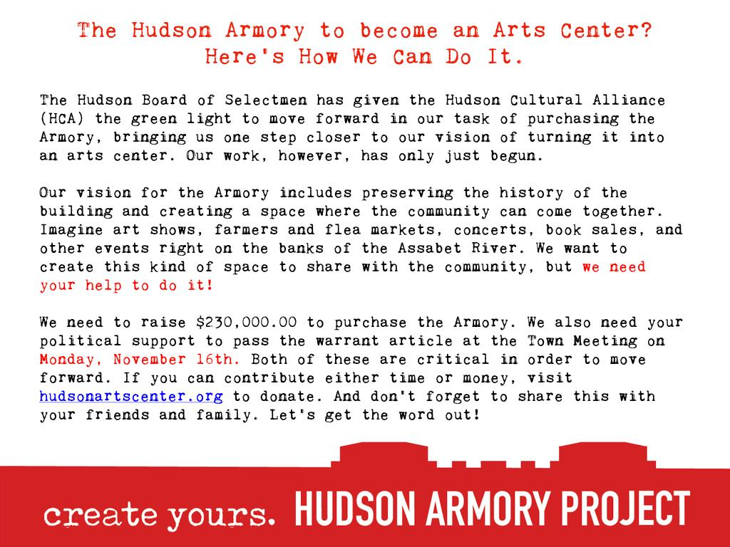 Hudson Armory Project