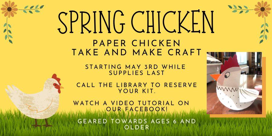 (Ages 6+) Chicken Paper Craft