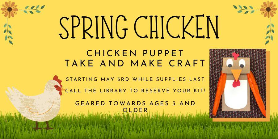(Ages 3+) Chicken Puppet Craft
