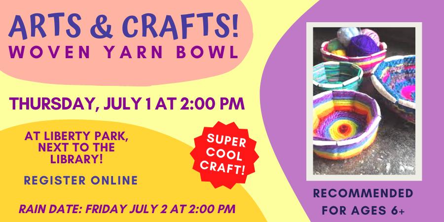 Children's Yarn Bowl Craft