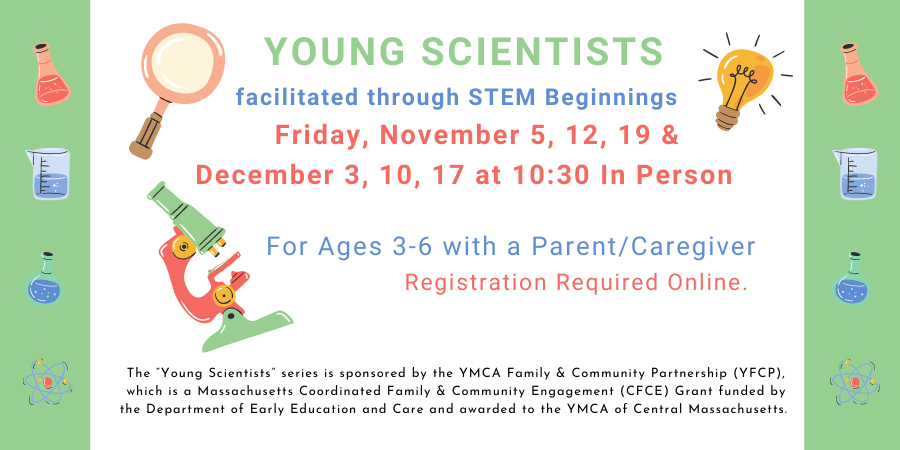 Young Scientists facilitated through STEM Beginnings One more class this session! Thursday, April 8th at 10 am on ZOOM
